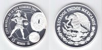 MEXICO SILVER PROOF 5$ PESOS COIN 2006 YEAR KM#770 GERMANY FIFA WORLD CUP