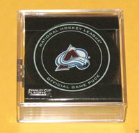 COLORADO AVALANCHE 2014 Stanley Cup Playoffs OFFICIAL GAME PUCK NEW Team Logo