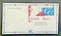 1946 USS Ross (DD563) San Diego Cancel To Buffalo NY Illustrated Naval Cover