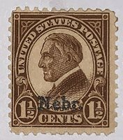 Travelstamps: 1929 US Stamps Scott #670 Nebr. overprint, og mint, hinged