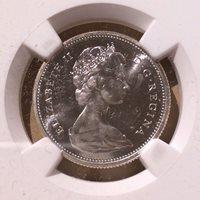 1965 Canada Twenty Five Cents NGC PL 65 - Silver