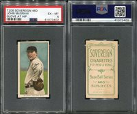 1909-11 T206 SOVEREIGN 460 JOHN MCGRAW GLOVE AT HIP PSA 6 (3402) ONLY 1 HIGHER