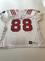 Game Worn Used Louisville Cardinals UL Football Jersey Adidas Size 48 #88