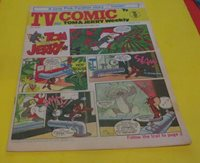TV COMIC oct 26 1974 THE ROAD RUNNER THE PINK PANTHER DR,WHO tom & jerry & MORE