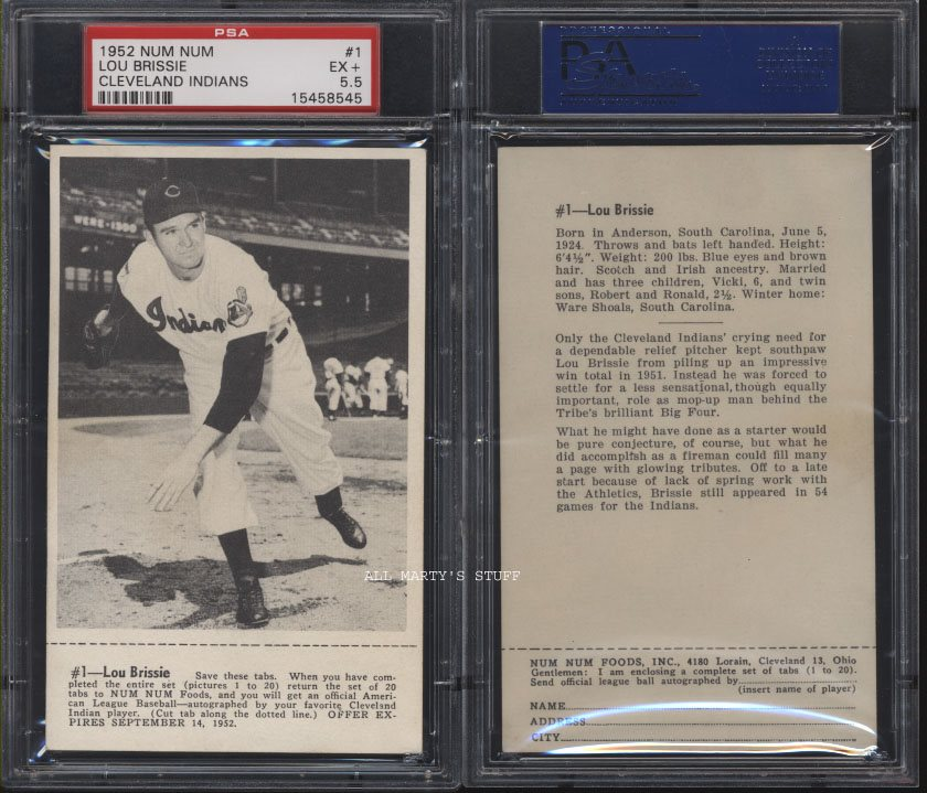 1952 Num Num 01 Lou Brissie Indians