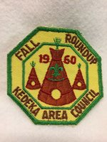 (mr4) Boy Scouts - 1960 Fall Round-up - Kodeka Area Council patch