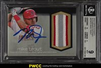 2018 Topps Dynasty Mike Trout AUTO PATCH /10 #APMT5 BGS 9 MINT (PWCC)