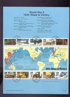 #2838 1994 World War II Souvenir Sheet USPS #9416 Souvenir Page