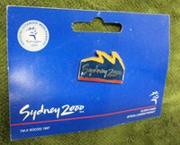 #P145. SYDNEY 2000 OLYMPIC PIN - YELLOW/BLUE/RED