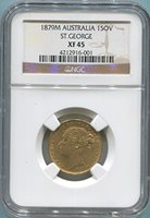 1879 AU Gold Sovereign XF45 NGC