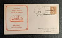 1940 USS Denebola AD12 First Day Postal Service Cover Portsmouth VA