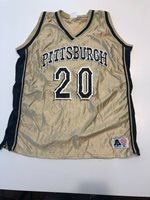 Game Worn Used Pittsburgh Panthers Pitt Adidas Basketball Jersey Women's #20 XL
