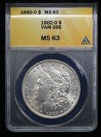 1882-O VAM-38B Morgan Dollar ANACS MS-63