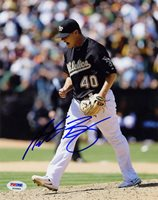 Andrew Bailey SIGNED 8x10 Photo Oakland A's PSA/DNA AUTOGRAPHED