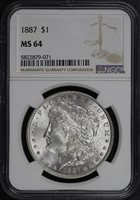 1887 $1 MS64 NGC