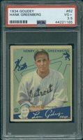 1934 Goudey 62 Hank Greenberg PSA 3.5 (1165)