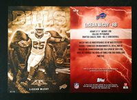 2015 Topps Fire LESEAN MCCOY 5x7 GOLD #02/10 Made Into The Wild BILLS