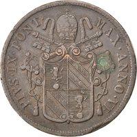 Vatican, Pie IX, 5 Baiocchi 1851 Rome année VI, KM 1356