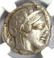 Ancient Athens Greece Athena Owl Tetradrachm Silver Coin (440-404 BC) - NGC XF!