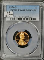1974-s Lincoln Head Cent. In PCGS Holder. Proof 69 Red Deep Cameo. g-177