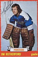 Jim Rutherford 1973 Topps Autograph #23 Penguins