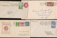 US Mixed lot of 4 Covers with Flag Cancels (020)