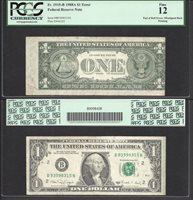 $1 1988-A END OF ROLL ERROR Very Rare EXCITING GREEN LINE PCGS Fine 12