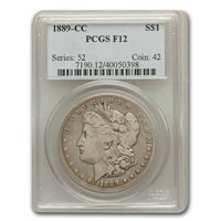 1889-CC Morgan Dollar Fine-12 PCGS