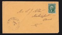 US 33 10c Washington on Cover from Gold Mining Town Michigan Bluff CA SCV $250+