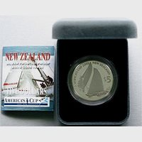 New Zealand -2003- Silver $5 Proof Coin- American's Cup Team
