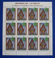 Palau (#435) 1997 Independence Day, 3rd Anniversary MNH sheet