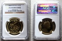 "2006 GOLD ISLE OF MAN ARCH ANGEL NGC PROOF 69 UILTRA CAMEO ""ARCH ANGEL MICHAEL SLAYING DRAGON"" ONLY 500 MINTED"