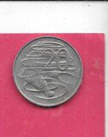 AUSTRALIA KM66 1981 VF-VERY FINE-NICE LARGE OLD VINTAGE 20 CENT ANIMAL COIN
