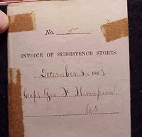 #12845 - 1863 Subsistence Form Brandy Station