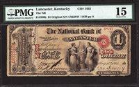 $1 Original Series The National Bank of Lancaster, Kentucky CH 1493 PMG 15