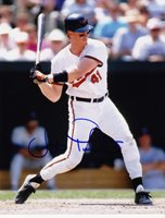 JEFF TACKETT BALTIMORE ORIOLES ACTION SIGNED 8x10