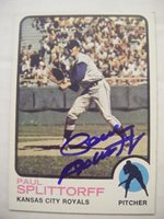PAUL SPLITTORFF signed KC ROYALS 1973 Topps baseball card AUTO Autographed #48