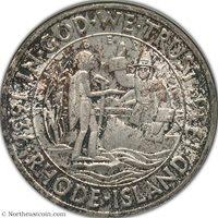 Rhode Island 1936 Silver Commem NGC MS63 Silver Commem