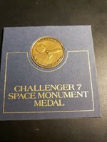Vintage 1986 Bronze Challenger 7 Space Project Coin Medal