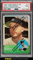 1996 Topps Finest Refractor w/ Coating 63 Reprint Mickey Mantle #13 PSA 9 (PWCC)