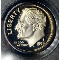 10c Cent Dime 1999 S PR69 DCAM Clad PCGS spectacular