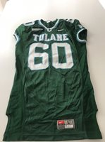 Game Worn Used Nike Tulane Green Wave Football Jersey Size L #60