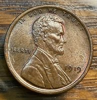 1919 Lincoln Cent Choice Uncirculated Pretty, Original Toning CHN