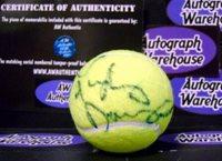 Lindsay Davenport autographed Tennis Ball - Autographed Tennis Balls