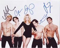 Revenge In-person autographed Cast Photo signed by 5 Great color cast photo signed by Gabriel Mann, Connor Paolo, Emily VanCamp, Nick Wechsler and Joshua Bowman