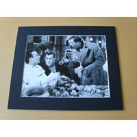 A signed and mounted 10x8 photograph. Michael Medwin.