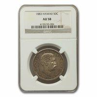 1883 Hawaii Half Dollar Kalakaua I AU-58 NGC - SKU#158824