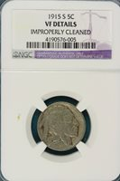 1915-S NGC VF DETAILS BUFFALO Nickel!!#E0678