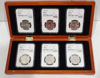 Lot 1) 6 Coin Franklin Set NGC MS64