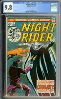 NIGHT RIDER #3 CGC 9.8 WHITE PAGES // BRONZE AGE MINI SERIES 1975